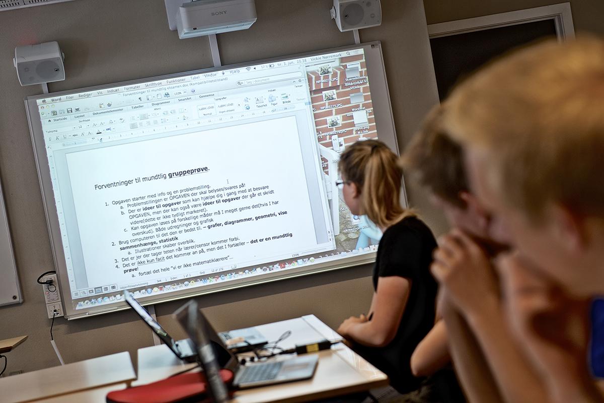 Interaktiv skærm til undervisningslokale